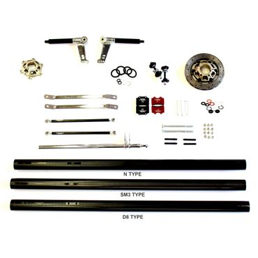 SPARE PARTS START KIT FOR KF CHASSIS 50mm AXLE, STUB AXLE 25mm