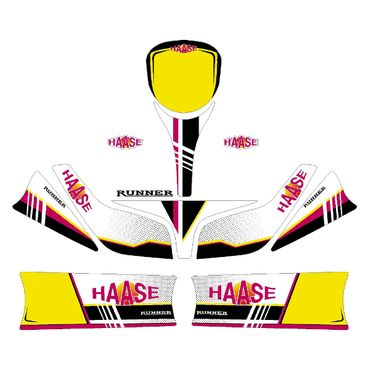 SET OF HAASE GRAPHICS FOR BABY KART BODYWORK
