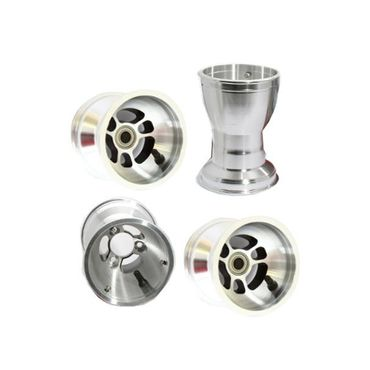 SET  AMV ALU. WHEELS  180-130mm WITH BEARINGS COMPLETE