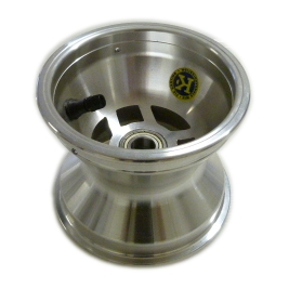 ALUMINIUM AMV FRONT WHEEL 110mm WITH BEARINGS COMPLETE