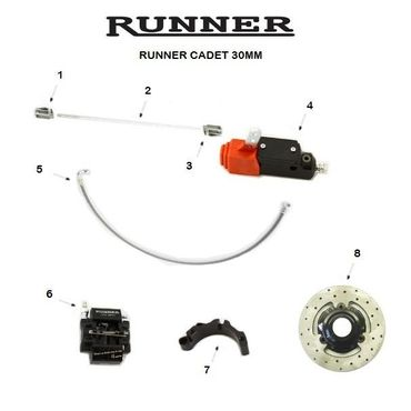 RUNNER CADET CSAI HOMOLOGATED BRAKE SYSTEM, MINI-JUNIOR, 30mm 160X11