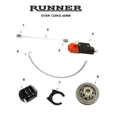 RUNNER FR14 REAR BRAKE SYSTEM SINGLE PUMP, MINI-JUNIOR OVER 120Kg 40mm