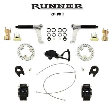 RUNNER FR11 FRONT BRAKE SYSTEM, KF-TAG, COMPLETE bearings 10mm