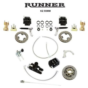 RUNNER FR14 BRAKE SYSTEM, KZ-125cc, 50mm COMPL. bearings 10mm