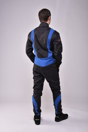 Overall for Karting and Motorsports, model CRUISER FLEX, black/blue, keep-racing®  – Bild 3