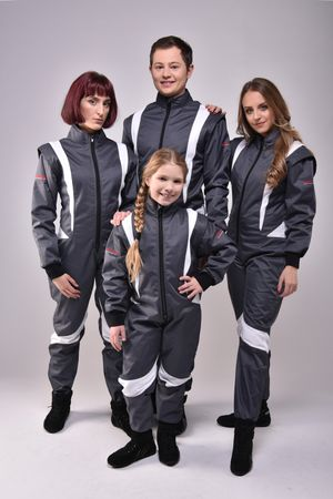 Overall for Karting and Motorsports, model CRUISER FLEX, black/white, keep-racing®