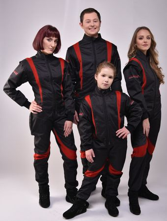 Overall for Karting and Motorsports, model CRUISER FLEX, black/red, keep-racing®  – Bild 1