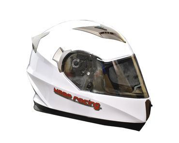keep-racing® helmet AIR, sizes XS - XL, gloss white, ECE / 22-05, DOT FMVSS 218, NBR 7471 – Bild 3