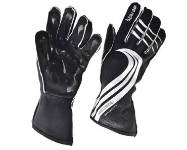 GRIP ULTRA II gloves for motorsport, keep-racing®, black/white, sizes 4XS - 3XL