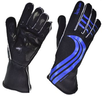 GRIP ULTRA II gloves for motorsport, keep-racing®, black/blue, sizes 4XS - 3XL