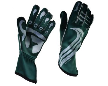 GRIP ULTRA II gloves for motorsport, keep-racing®, green/white, sizes 4XS - 3XL