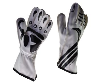 GRIP ULTRA II gloves for motorsport, keep-racing®, white/black, sizes 4XS - 3XL