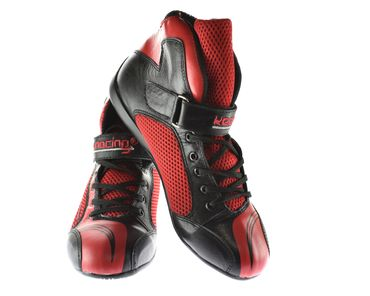 Chaussure de sport, kart & automobile, keep-racing® modèle BOOST ONE, noir / rouge, cuir, pointure 34 - 49 – Bild 1