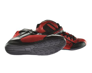 Kart & motor sports shoes, Keep-racing®, model BOOST ONE, black / red, leather, size 34 - 49 – Bild 2