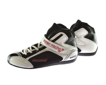 Kart & motor sports shoes, Keep-racing®, model BOOST ONE, white / black, leather, size 34 - 49 – Bild 2