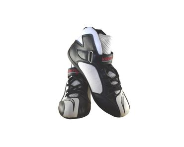Kart & motor sports shoes, Keep-racing®, model BOOST ONE, black /white, leather, size 34 - 49 – Bild 1