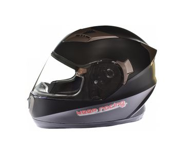 keep-racing® Motorsporthelm AIR, Größe XS - XL, schwarz matt, ECE / 22-05, DOT FMVSS 218, NBR 7471