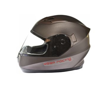 keep-racing® helmet AIR, sizes XS - XL, silver, ECE / 22-05, DOT FMVSS 218, NBR 7471