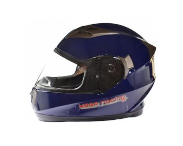 keep-racing® Motorsporthelm AIR, Größe XS - XL, blau, ECE / 22-05, DOT FMVSS 218, NBR 7471