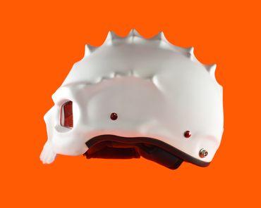 Monster helmet, Mototorbike helmet, Jet helmet, white – Bild 3