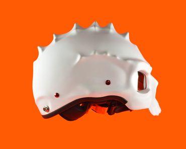 Monster helmet, Mototorbike helmet, Jet helmet, white – Bild 4