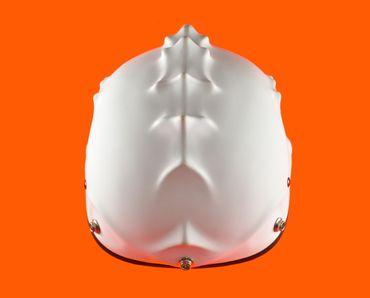 Monster helmet, Mototorbike helmet, Jet helmet, white – Bild 5