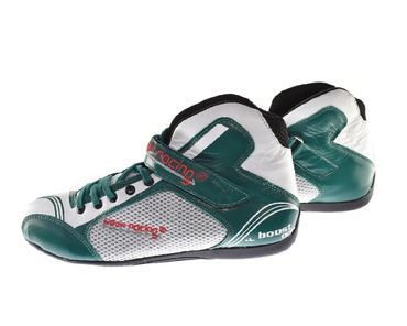 Kart & motor sports shoes, Keep-racing®, model BOOST ONE, green /white, leather, size 34 - 49 – Bild 2