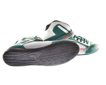 Kart & motor sports shoes, Keep-racing®, model BOOST ONE, green /white, leather, size 34 - 49 – Bild 3
