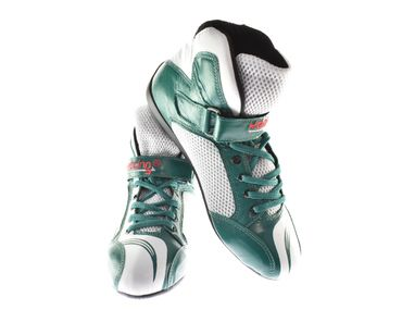 Kart & motor sports shoes, Keep-racing®, model BOOST ONE, green /white, leather, size 34 - 49 – Bild 1