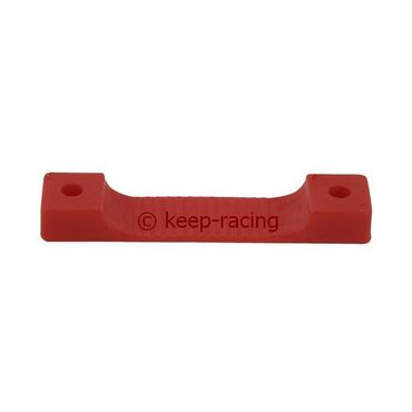 clamp for number plate fixing, red colour