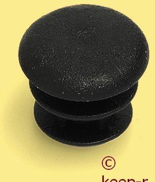 Kappe für 12mm Rohr, schwarz