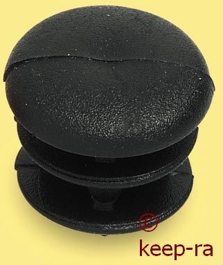 cap for 14mm pipe, black colour