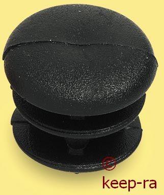 Kappe für 14mm Rohr, schwarz