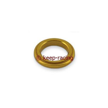 aluminium spindle spacer 17x5mm, gold anodized