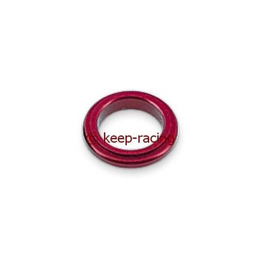 aluminium spindle spacer 17x5mm, red anodized