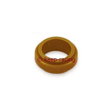 aluminium spindle spacer 17x10mm, gold anodized