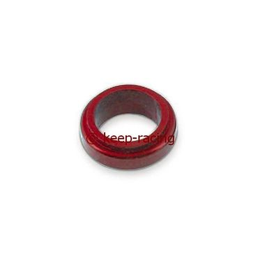 aluminium spindle spacer 17x10mm, red anodized