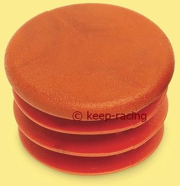 cap for 28mm pipe, red colour