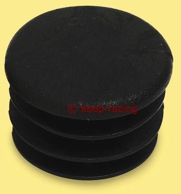 cap for 30mm pipe, black colour