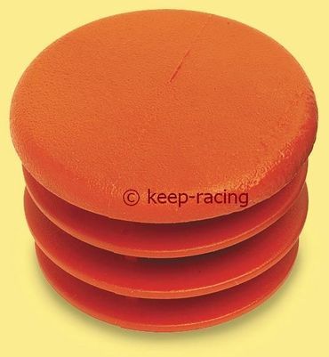 cap for 30mm pipe, red colour