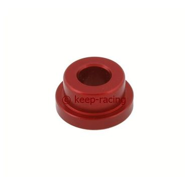 small aluminium semi-bush for rear bumper red anodized