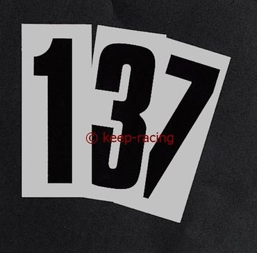 black adhesive number 3, with transparent background