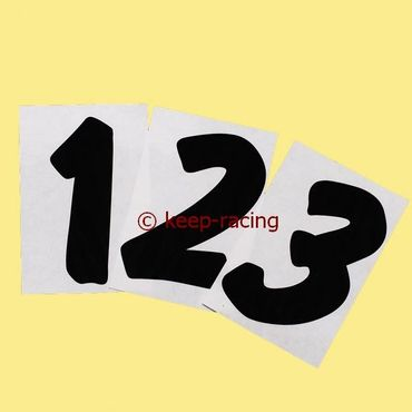 black adhesive number 4, with transparent background