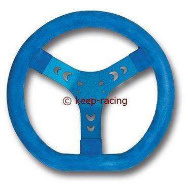 Lenkrad Wildleder 320mm blau