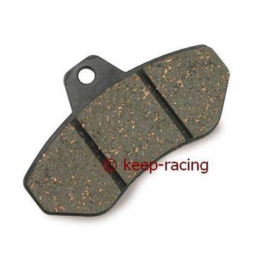 rear brake pad, set (2pcs), hard type (111), black colour