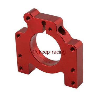aluminium housing for 30mm axle bearing red anodized