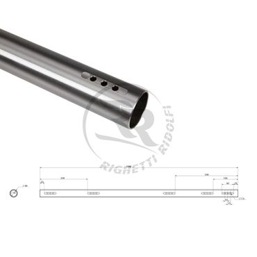 rear axle 40x1040mm thickness 3mm, soft type (a)