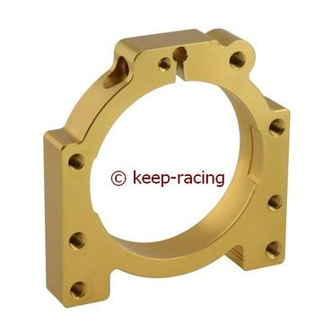 aluminium housing for 50mm axle bearing gold anodized