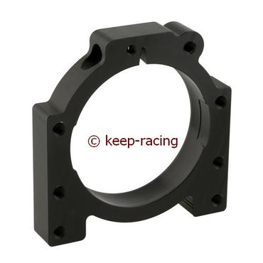 aluminium housing for 50mm axle bearing black anodized