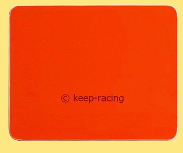 red sticker for number plate side pods